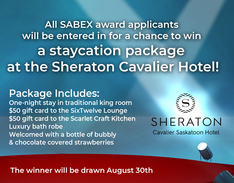 SABEX Awards chance to win staycation package